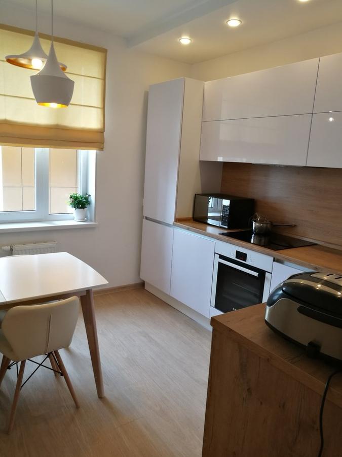 Белый кухонный гарнитур-Кухня из пластика «Модель 438»-фото1