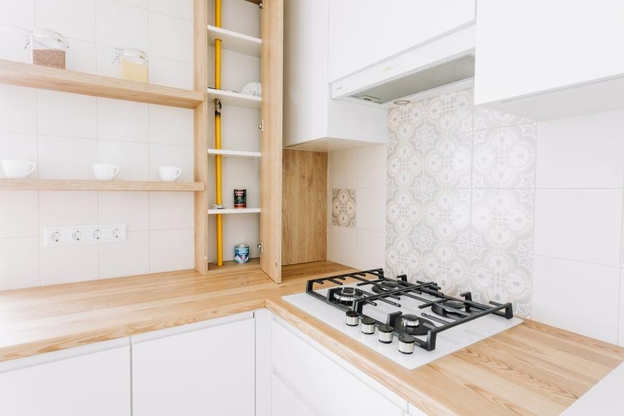 Белый кухонный гарнитур-Кухня МДФ в эмали «Модель 404»-фото5