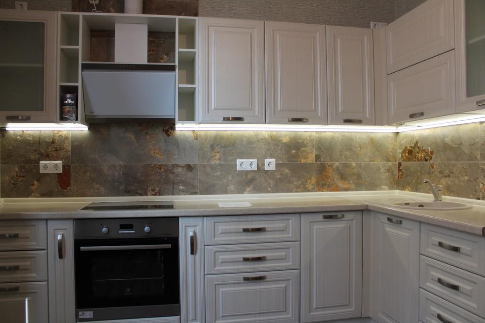Акриловые кухни-Кухня из пластика «Модель 132»-фото1