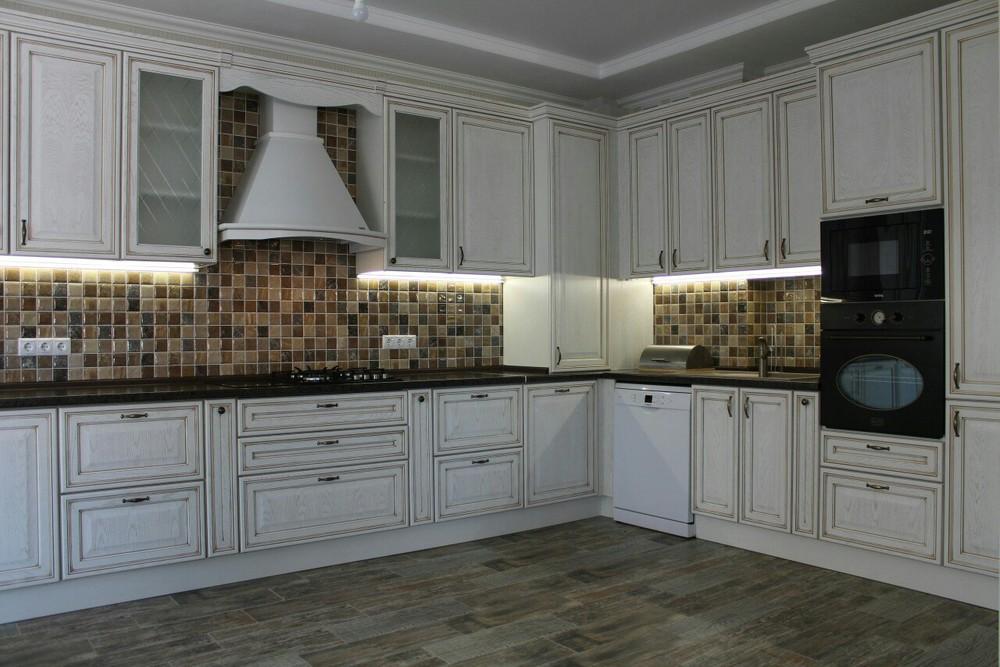 Акриловые кухни-Кухня из пластика «Модель 136»-фото1
