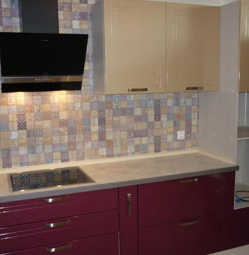 Встроенная кухня-Кухня МДФ в ПВХ «Модель 266»-фото5
