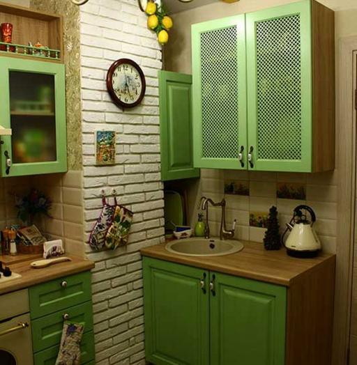 Встроенная кухня-Кухня МДФ в эмали «Модель 120»-фото7