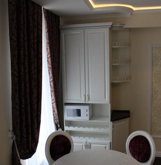 Белый кухонный гарнитур-Кухня из шпона «Модель 43»-фото9