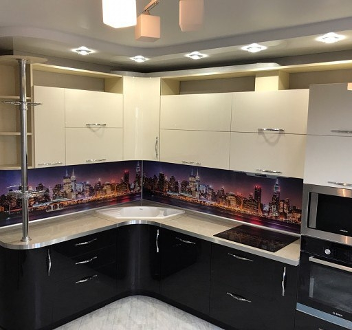 Глянцевые кухни-Кухня из пластика «Модель 398»-фото9