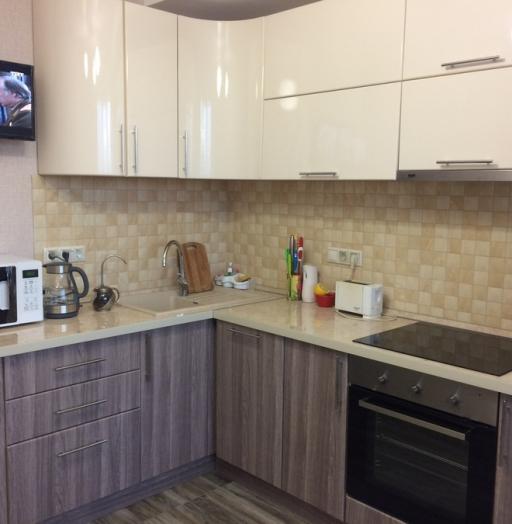 Белый кухонный гарнитур-Кухня МДФ в ПВХ «Модель 170»-фото3