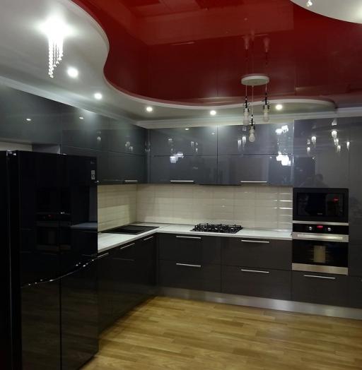 Акриловые кухни-Кухня из пластика «Модель 451»-фото3