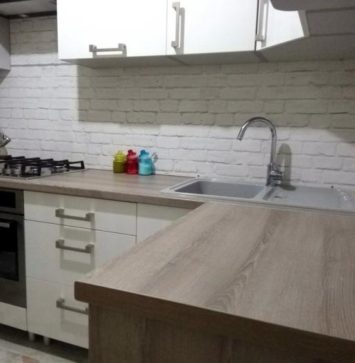 Белый кухонный гарнитур-Кухня из пластика «Модель 334»-фото8