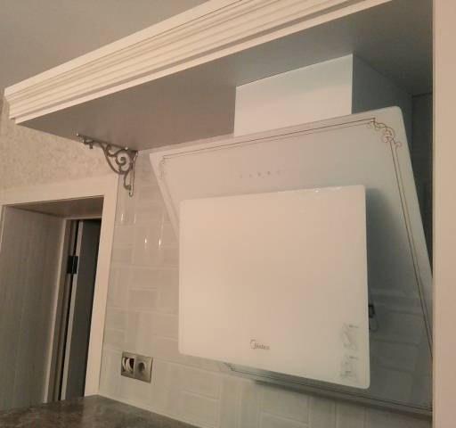 Белый кухонный гарнитур-Кухня МДФ в ПВХ «Модель 33»-фото4