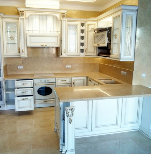 Белый кухонный гарнитур-Кухня из массива «Модель 152»-фото10