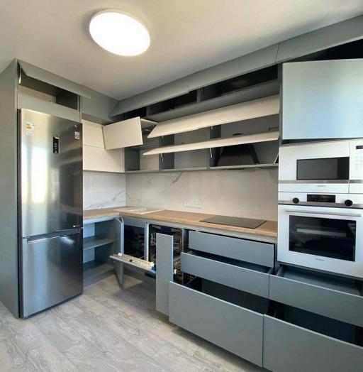 -Кухня МДФ в эмали «Модель 632»-фото30